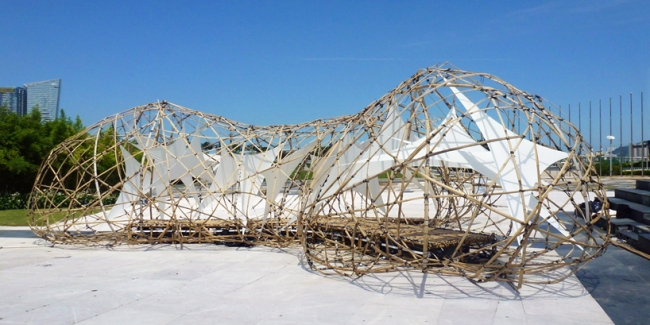 anlage übersicht skulptur design bambus