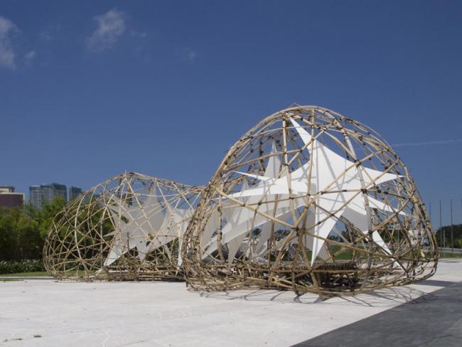 studenten projekt kunst skulptur bambus